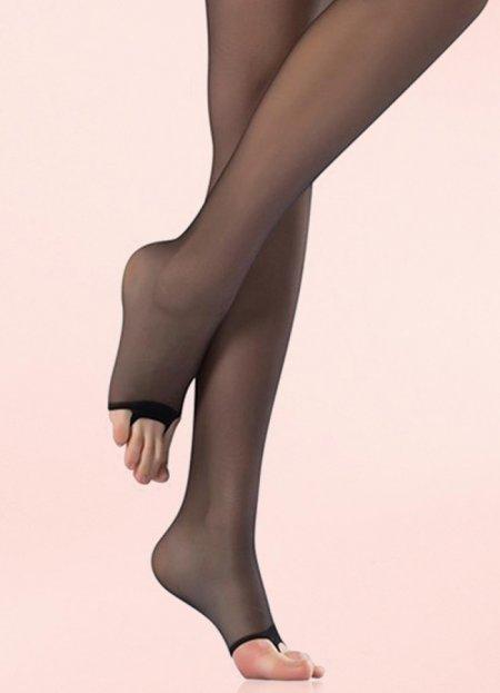 Külotlu Çorap Şeffaf Burnu Açık Siyah | 0545 356 96 07
