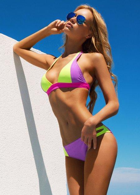 Renkli Yeni Şık Tasarım Bikini | 0545 356 96 07