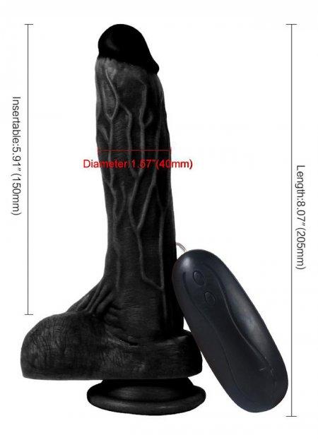 Et Dokusu Süper Realistik 20.5 Cm Vibratör | 0545 356 96 07