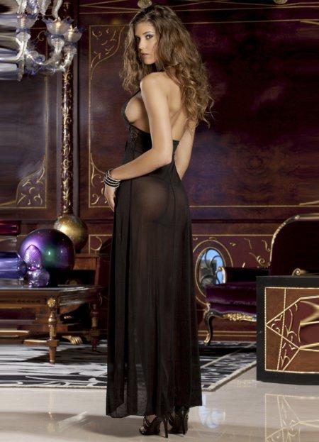 Siyah Şık Uzun Sexy Gecelik | 0545 356 96 07