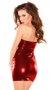 Parlak Kırmızı Ateşli Fantazi Elbise