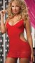 Kırmızı Mini Arkadan Dekolteli Elbise