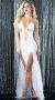 Beyaz Uzun Şık Gece Elbisesi