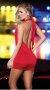 Dekolteli Kırmızı Sexy Mini Elbise