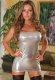 Parlak Altın Renkli Seski Fantazi Elbise