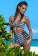 Yüksek Bel Renkli Şık Özel Tasarım Bikini