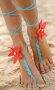 Ayak takısı Halhal Ayak aksesuarı Çiçekli
