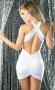 Sırt Dekolteli Mini Beyaz Ebise