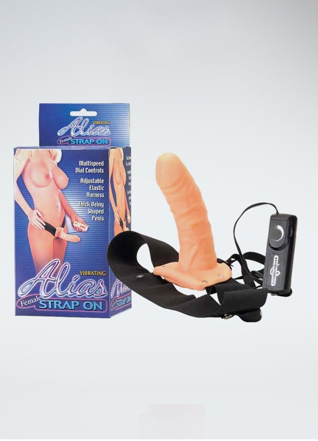 Titreşimli Belden Bağlamalı Realistik Penis