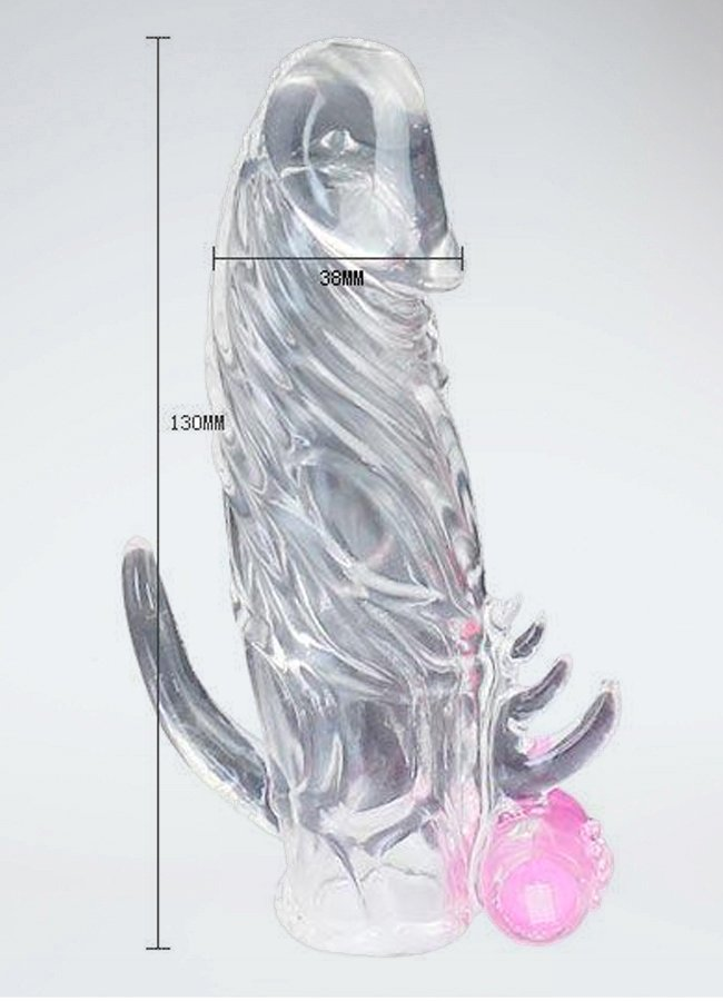 Titreşimli Klitoris Uyarıcılı Silikon Yapıya Sahip Penis Kılıfı | 0545 356 96 07