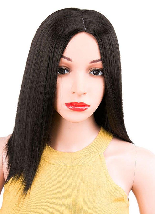 Siyah Kısa Sentetik Peruk Medikal Peruk Kadın Peruk