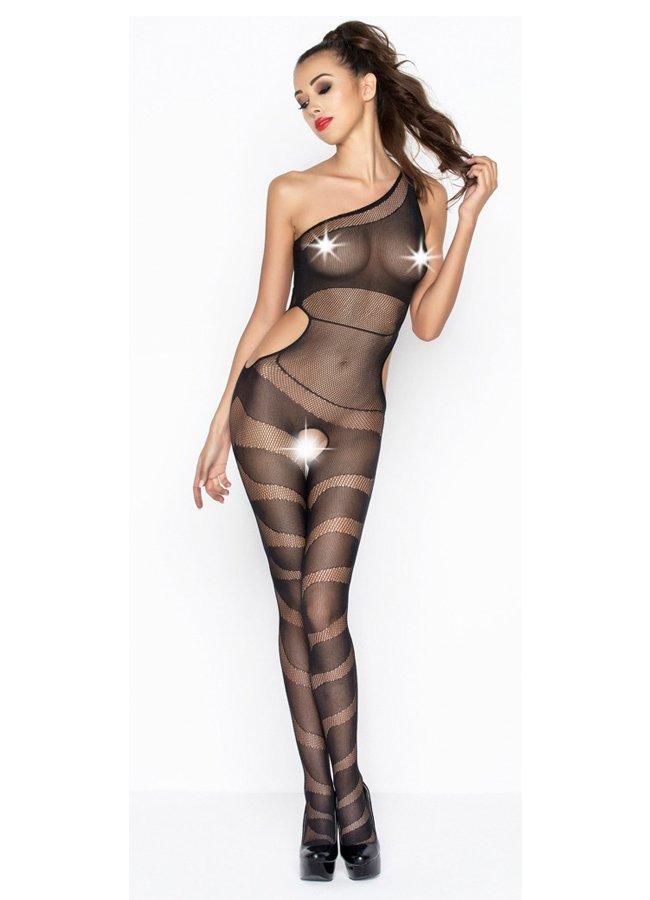 Desenli Transparan Fantazi Siyah Vücut Çorabı   0545 356 96 07