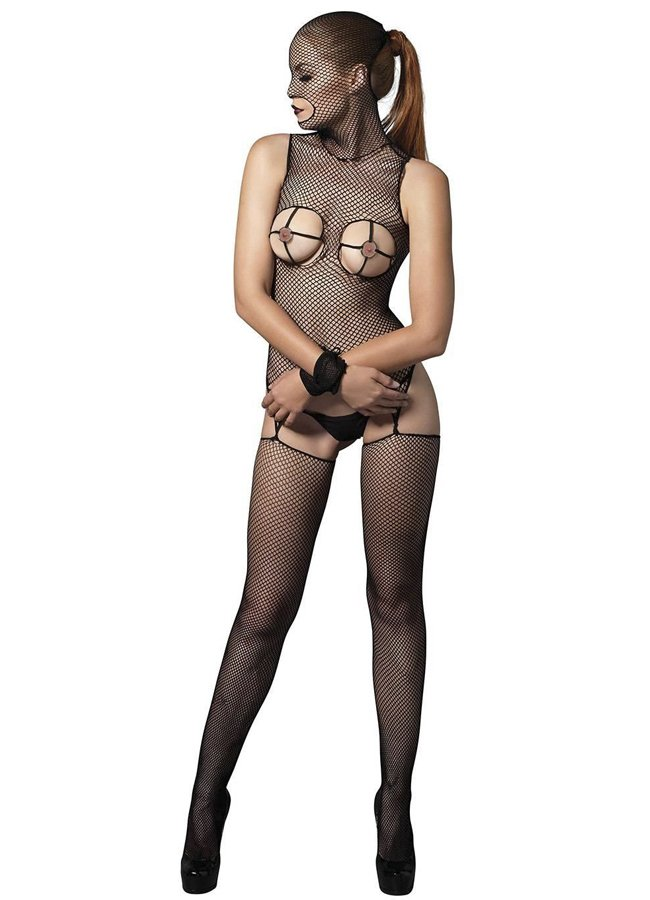 Maskeli ve Kelepçeli Vücut Çorabı