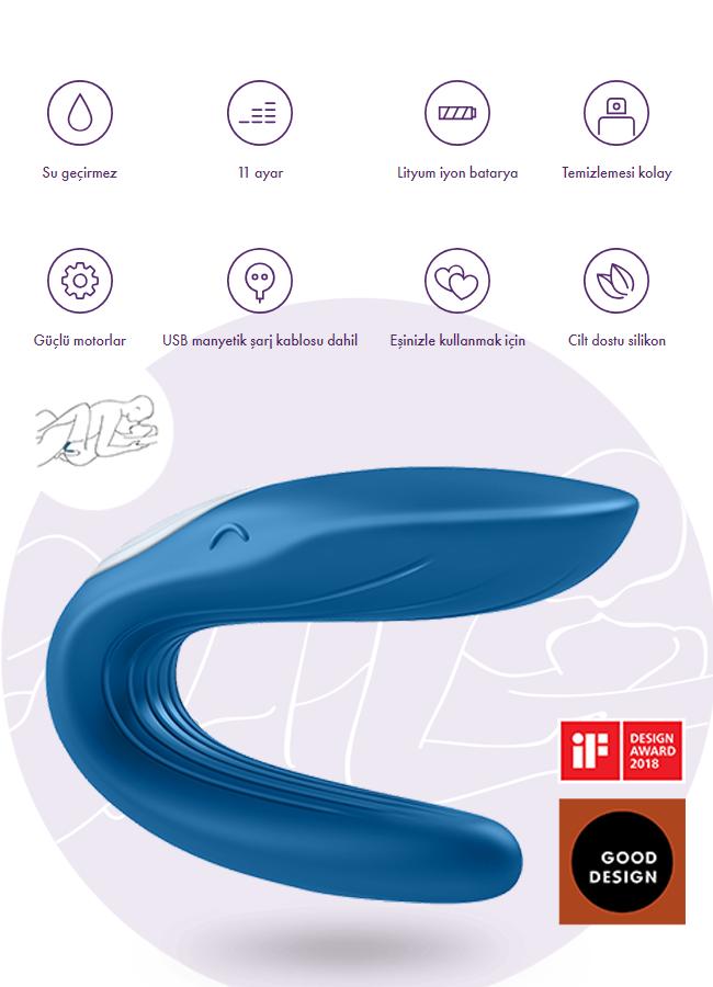 Çiftlere Özel Şarjlı Partner Whale Vibratör | 0545 356 96 07