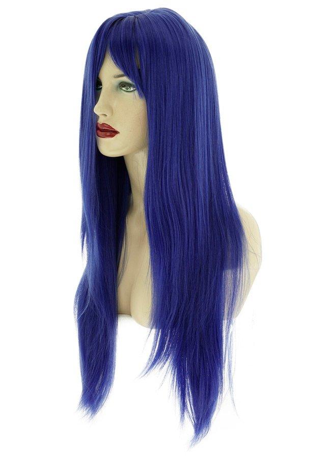 Uzun Renkli Saks Mavisi Peruk | 0545 356 96 07