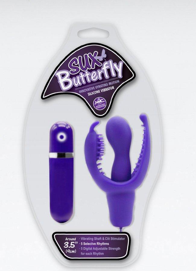 Sux Butterfly Klitoral Uyarıcılı Silikon Vibratör | 0545 356 96 07
