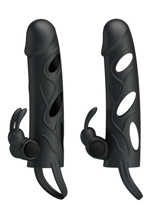 Siyah Penis Kılıfı Klitoris Uyarıcılı | 0545 356 96 07