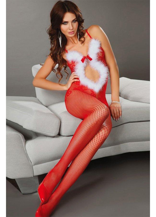 Kırmızı Vücut Çorabı Christmas
