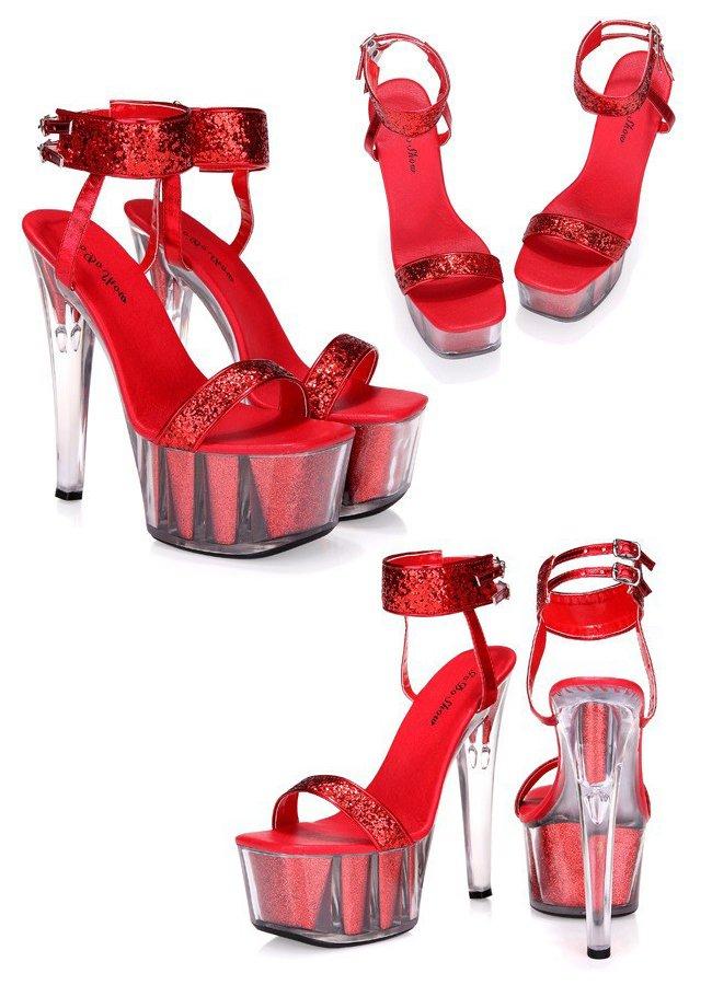 Yüksek Topuklu Fantazi Şeffaf Platform Ayakkabı | 0545 356 96 07