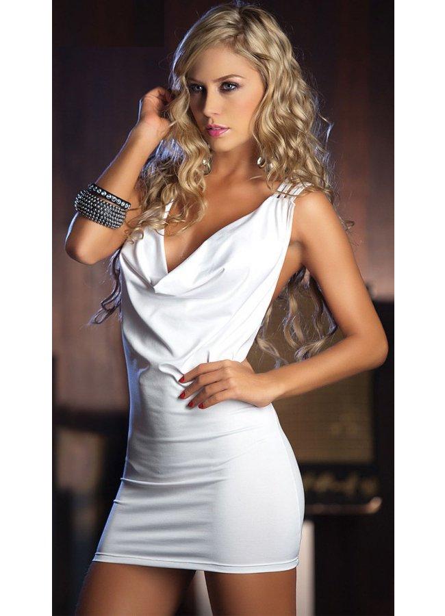 Özel Tasarım Beyaz Mini Elbise | 0545 356 96 07