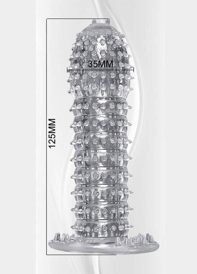 Kabartmalı Güçlü Uyarıcı Dildo Uzatmalı Penis Kılıfı Prezervatif | 0545 356 96 07