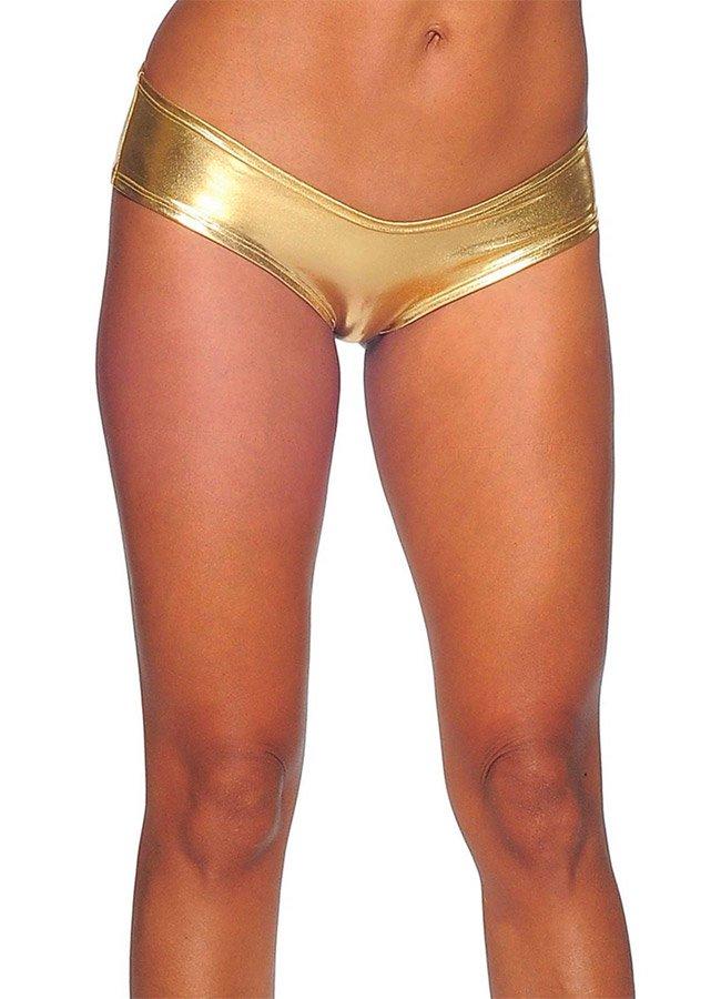 Seksi Deri Külot Gold Fantazi İç Giyim   0545 356 96 07