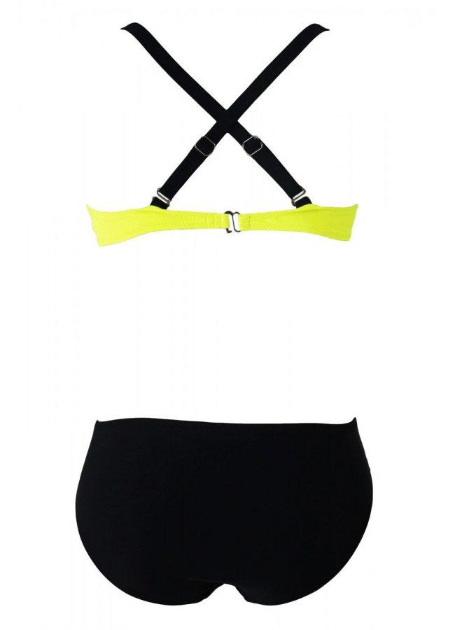 Sarı Siyah Şık Bikini Takım | 0545 356 96 07