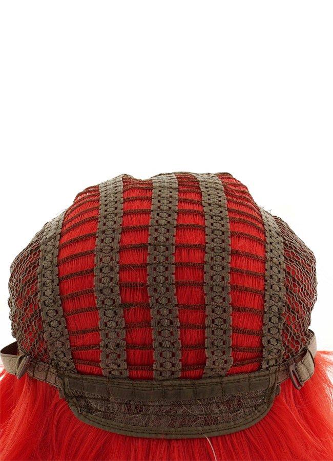 Renkli Kısa Kırmızı Peruk | 0545 356 96 07