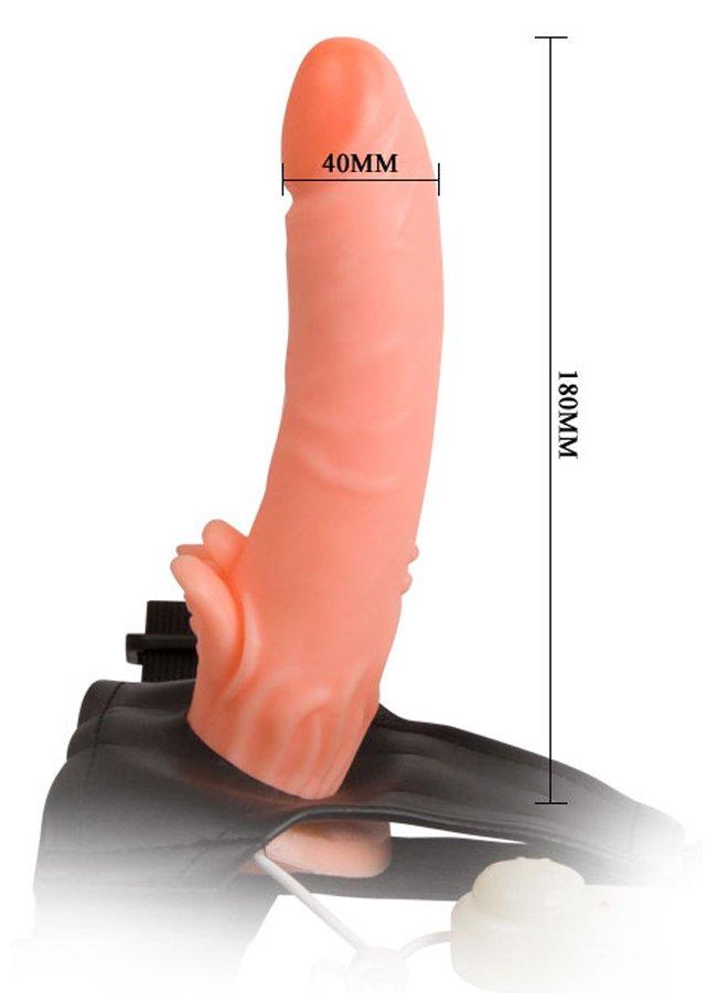 Belden Bağlamalı Klitoris Uyarıcılı Realistik Vibratör