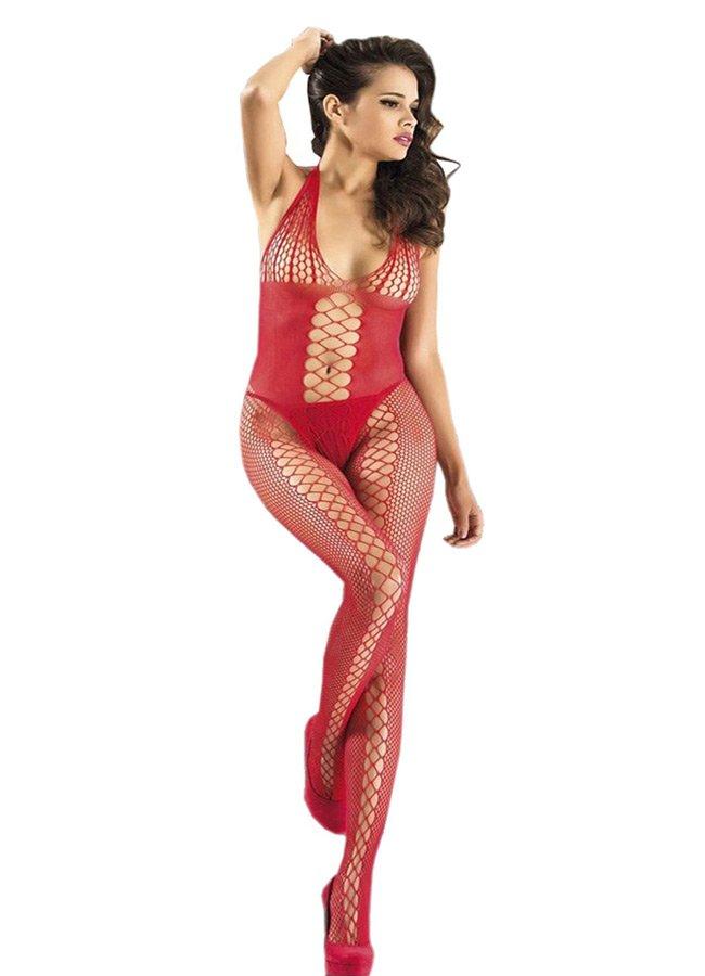 Nokta Shop Kırmızı Vücut Çorabı Seksi İç Giyim   0545 356 96 07