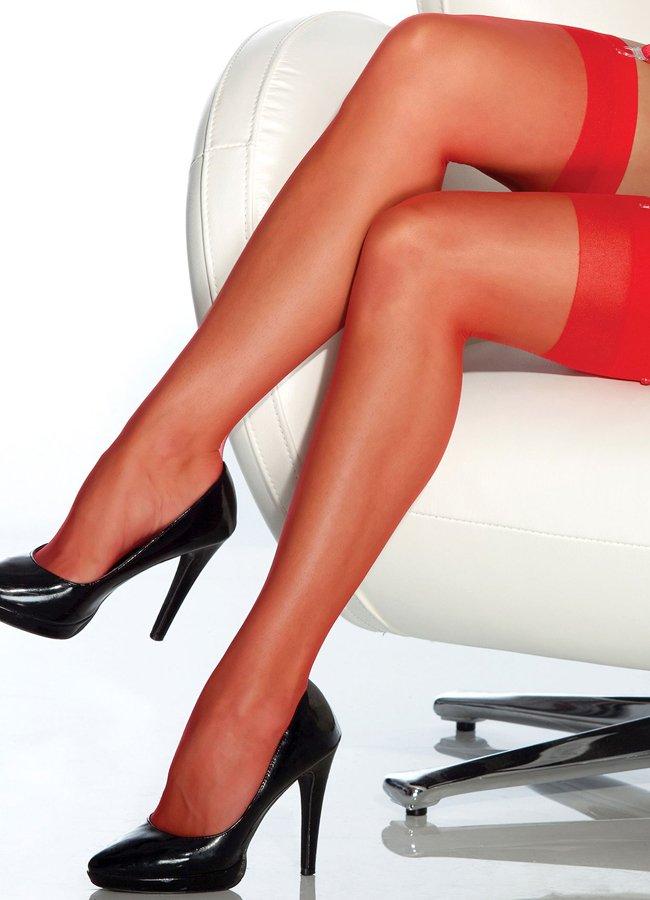 Kırmızı Dantelsiz Jartiyer Çorabı | 0545 356 96 07