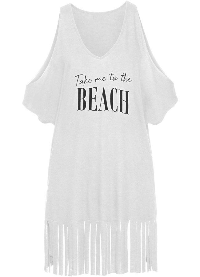 Angelsin Beyaz Beach Baskılı Pareo | 0545 356 96 07