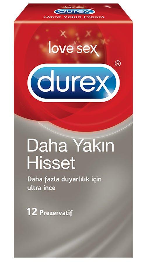 Durex Prezervatif Daha Yakın Hisset 12li