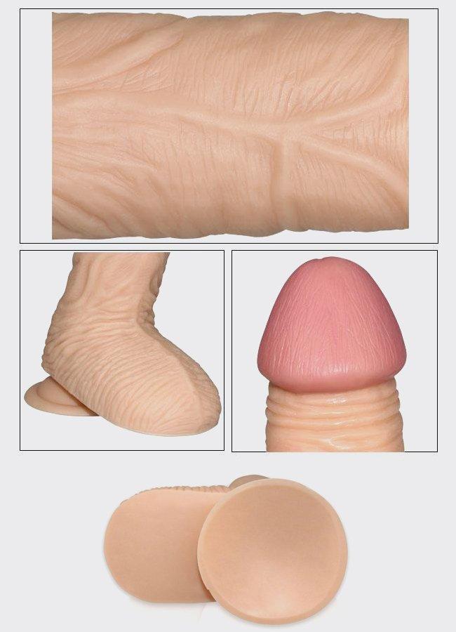 Yumuşak Ten Doku 20 Cm Realistik Penis | 0545 356 96 07