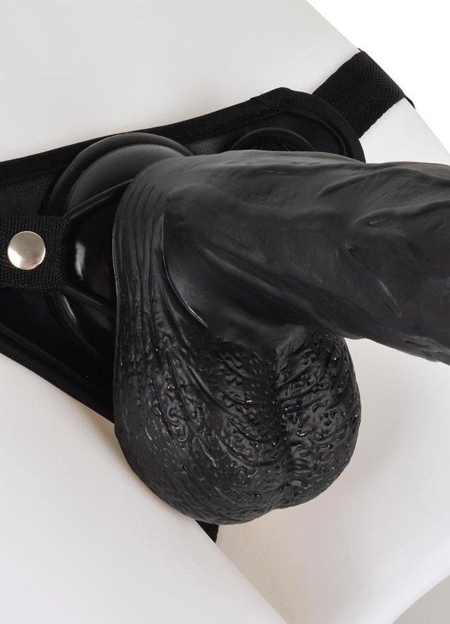 Siyahi 19 Cm Belden Bağlamalı Penis
