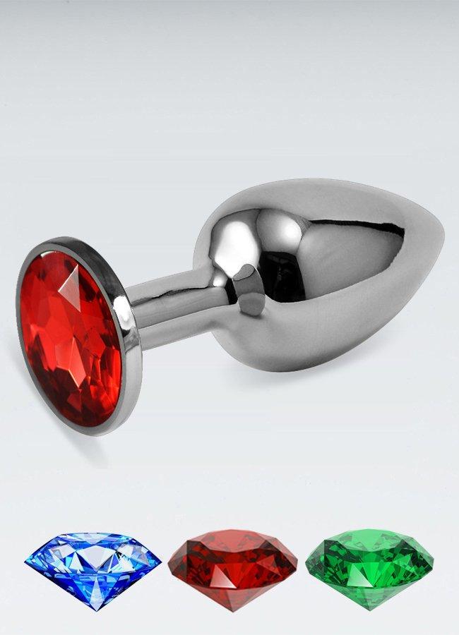 Küçük boy metal anal plug Kırmızı