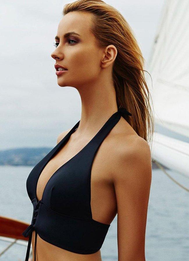 Siyah Yüksek Bel Bikini Takımı | 0545 356 96 07
