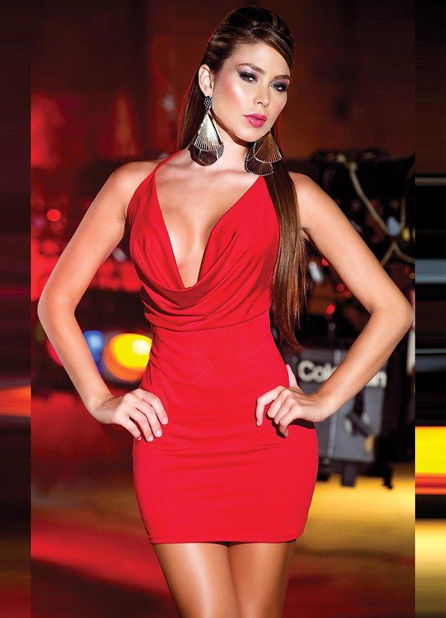 Sırtı Metal Aksesuarlı Kırmızı Mini Ebise | 0545 356 96 07