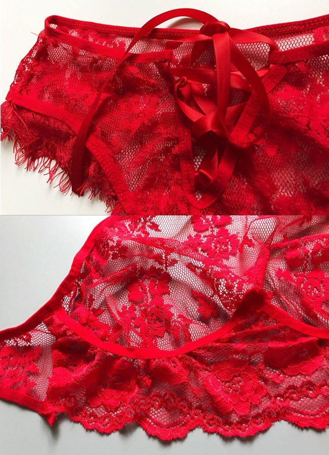 Sexy Kırmızı Jartiyer Takım   0545 356 96 07