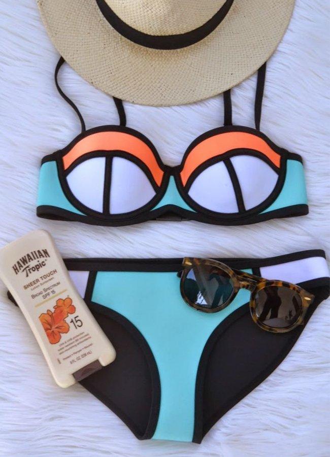 Renkli Sexy Gösterişli Bikini