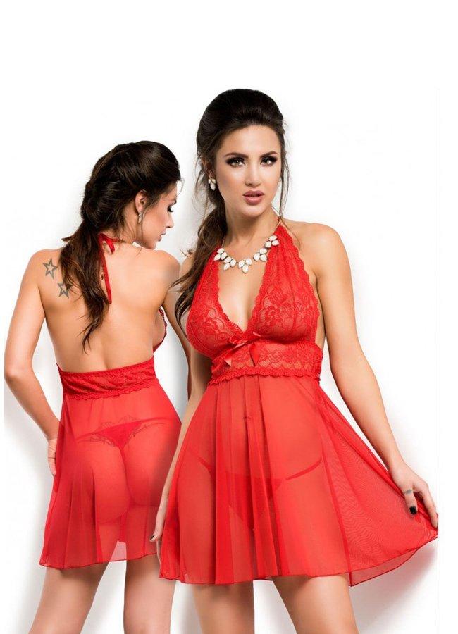 Sexy Kadın Gece Giyim Kırmızı Gecelik