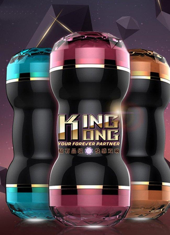 King Kong Çift Taraflı Suni Vajina Mastürbatör