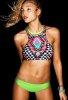 Renkli Desenli Özel Tasarım Tankini Bikini