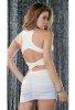 Beyaz Arkası Çapraz Şık Sexy Elbise