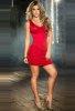 Kırmızı Arkası Çapraz Şık Sexy Elbise
