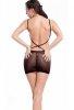 Sırtı Açık Fileli Seksi Mini Elbise