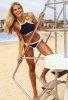 Lacivert Özel Tasarım Tankini Bikini
