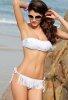 Beyaz Püsküllü Bikini