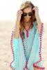 Tasarım Mavi Plaj Elbisesi
