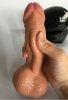 20 Cm Realistik Gerçekçi Vibratör Dildo